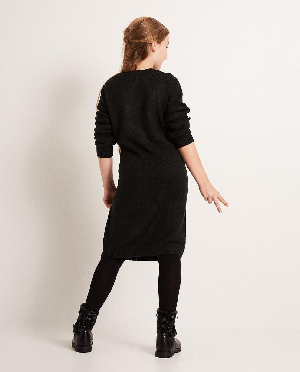 Kleider - Schwarz - Kleid mit Aufschrift